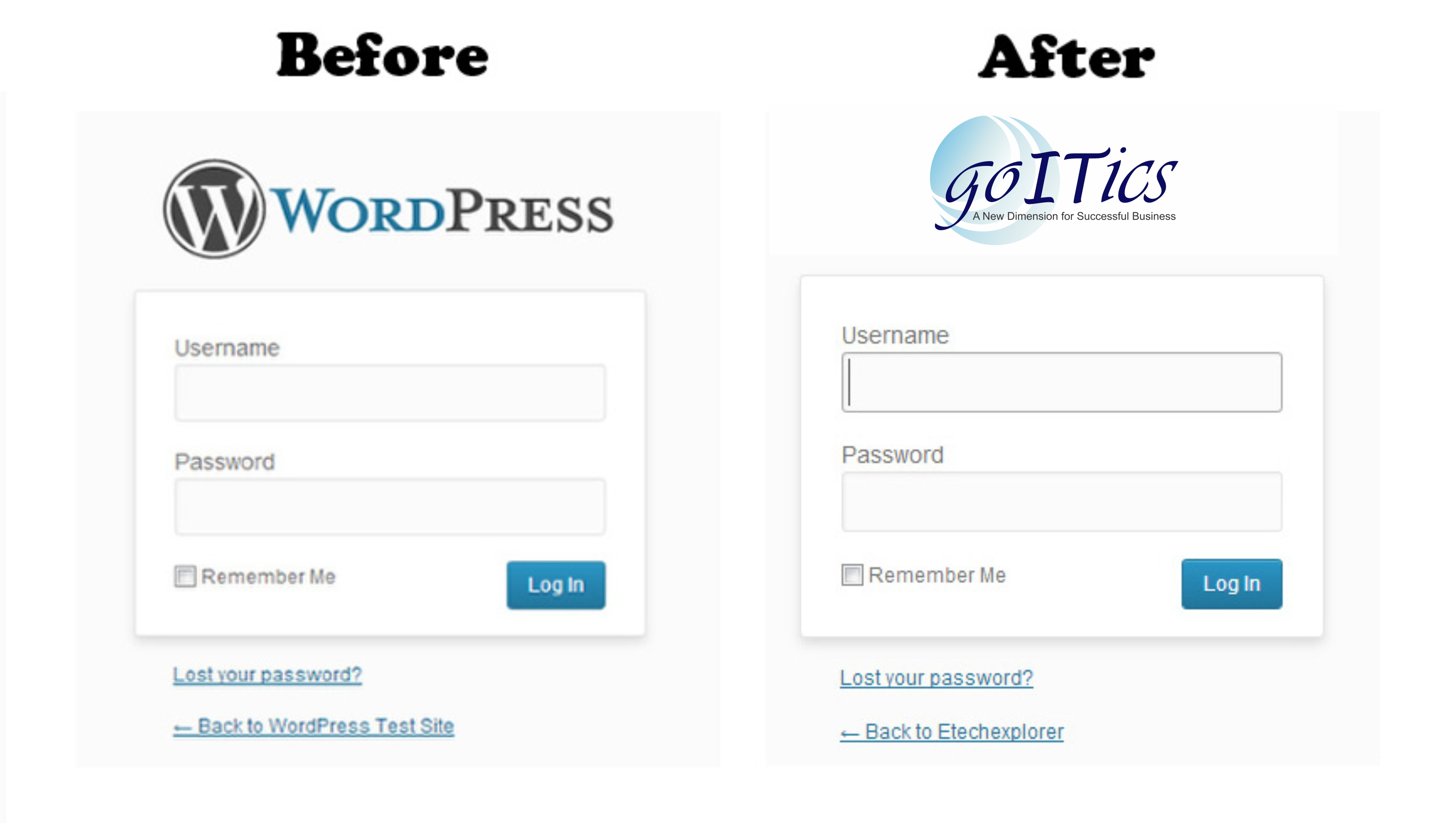 Replace WordPress logo in login page.